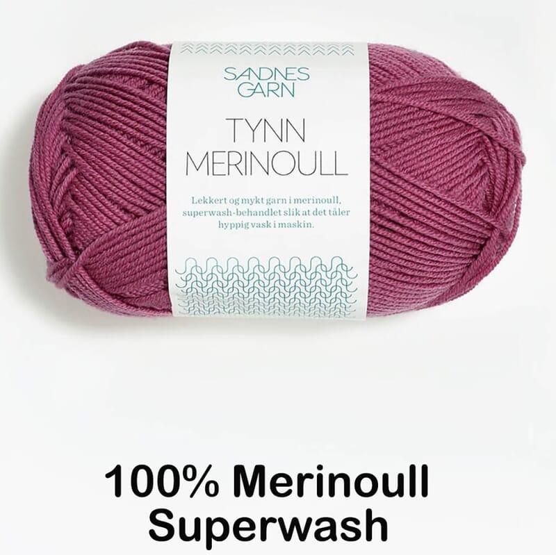 0241df6024f Tynn Merinoull fra Sandnes - Strikkegarn og strikkeoppskrifter - TO ...