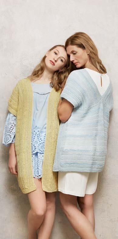 strikket vest til damer
