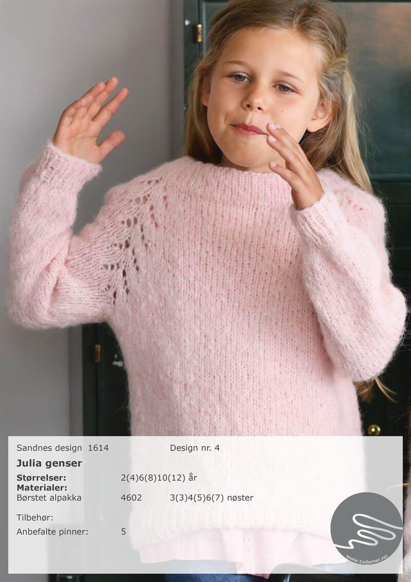 7e049d7a Julia barnegenser - Strikkegarn og strikkeoppskrifter - TO DAMER