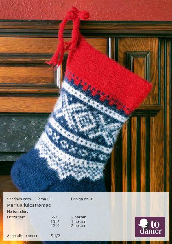 cefab8cb marius julestrømpe - Strikkegarn og strikkeoppskrifter - TO DAMER